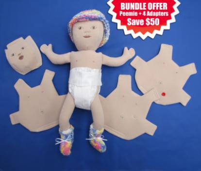Preemie with 4 Adapters